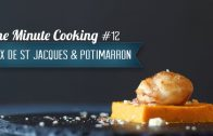 Noix de St Jacques sur canapé de Potimarron #12 – One Minute Cooking